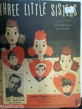 song sheet THREE LITTLE SISTERS Eric Winstone 1942