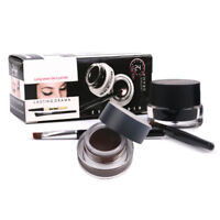 2in1 Coffee + Black Gel Eyeliner Waterproof Cosmetic Eye Liner Makeup Delineador