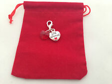 ' Just Married ' Wedding Clip on Charm in Red Pouch Bag - FREE P&P