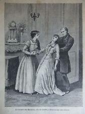 ET TOURNANT SUR ELLE MEME ELLE FUT TOMBEE -GRAVURE 1881
