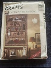 Vintage McCall's Crafts Uncut Pattern 8327 American Tradition quilt stockings