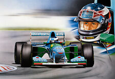 Michael Schumacher Formula 1 Benetton B194 Limited Edition Print Wayne Vickery