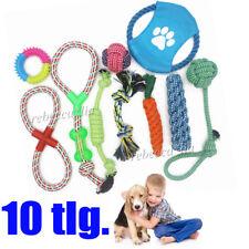 10 tlg. Hunde Spielzeug Set Baumwolle Seil Hund Spielzeug Ball Frisbee Wurfball