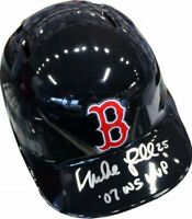 """Mike Lowell """"07 WS Champs"""" Autographed Boston Red Sox Replica Helmet (JSA)"""