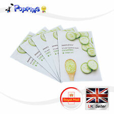 5 X New Innisfree Its Real Squeeze Series Sheet Mask Cucumber (20ml x 5)