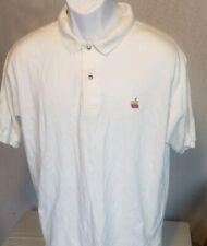 Apple computer polo-shirt, vintage, size L - Large, Rainbow logo - The new Mac