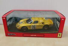 Hot Wheels Ferrari 250 LM Brand New 1:18 Yellow Track Dirt Limited Edition