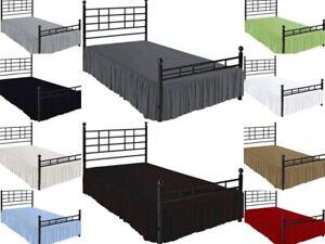 100%Microfiber Ruffle BedSkirt Split Corner Solid Queen/King All Size multicolor