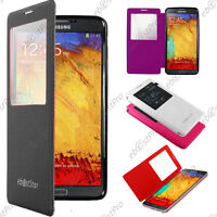Accessoire Housse Coque Etui S-View Flip Cover Samsung Galaxy Note 3 N9000 +Film