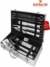 Stainless Steel BBQ Smoker Accessories – (Premium 12 Pc Set) – Sturdy