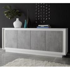 Sideboard Sky Wohnzimmer Kommode Schrank in weiß matt Beton Softclose