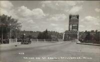 Stillwater MN Bridge & Car Real Photo Postcard