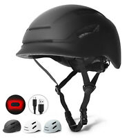 Glaf Ultralight Adult Bike Safety Helmet Cycling Bicycle USB Tail Light Black