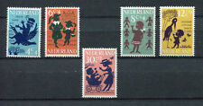 A4598) NETHERLANDS OLANDA 1963 MNH** Children songs 5v