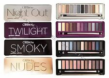 Eyeshadow Palette- Beauty Creations Smokey, Nudes, Night Out, Twilight- w/ Brush