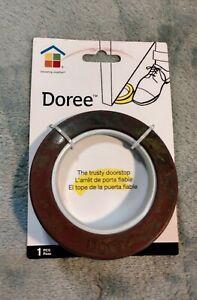 DOREE Trusty Doorstop Rubber Round Wedge Washable Storable Stackable Dark Colors