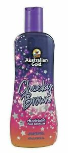 Australian Gold Cheeky Brown Accelerator Dark Natural Bronzer Tanning Bed Lotion