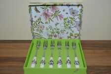 Portmeirion Botanic Garden Set of 6 Cake / Pastry Forks New & Boxed.