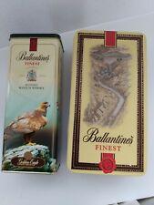 Vintage Ballantine's Finest Scotch Tins (2) Ballentine & Sons Scotland