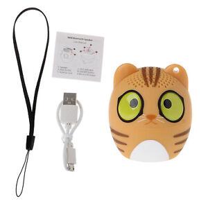 2 Mini Animal Bluetooth Wireless Speaker Cat Design. Tiny Body Big Sound.