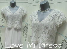 M&S Limited Collection - Ivory Lace Playsuit  Sz 12 EU40 Wedding, Holiday