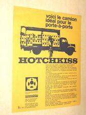 Prospectus camion HOTCHKISS Porte à Porte Truck LKW catalogue  brochure
