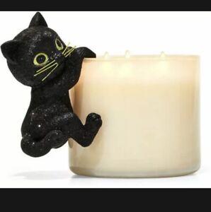 2021 Bath & Body Works Halloween BLACK CAT Candle Jar Hanger~ADORABLE!