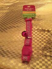 New listing Kitten collar, Reflective Kitten Collar Pink Zebra with bell & breakaway buckle