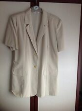 Prima Ladies Short Sleeved Jacket With Padded Shoulders - Size 14 Beige