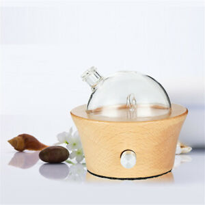 Waterless Essential Oil Diffuser Glass Wood Aroma Light Yoga SPA Fragrance 50ml