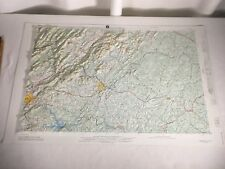 """George Washington Forest Roanoke Map 3-D Army Corps 1971 Topographical 33""""x20.5"""""""