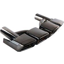For Mercedes Benz W212 W221 W204 W205 W218 AMG Style Black Exhaust Muffler Tips