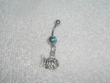 Cute Ocean Fish Charm Belly Navel Ring Body Jewelry