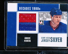 2010-11 ITG DECADES 80'S ANDERS HEDBERG GAME USED JERSEY SILVER PATCH