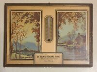 Vintage Advertising Thermometer De Selms Funeral Home - Cisne IL