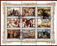 COREA colección 9 Sellos: Historia real de Europa ,La monarquía BX16D