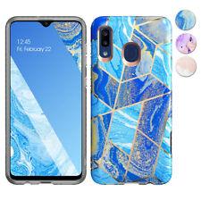 For Samsung Galaxy A20 / A30 Marble Case TPU Bumper Soft Cover