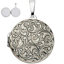 Medaillon rund für 2 Fotos 925 Sterling Silber Medalion Amulett Medeilion