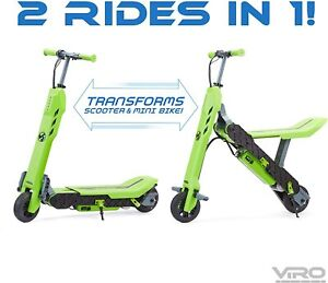 VIRO VEGA 2 IN 1 TRANSFORMING SCOOTER - ADJUSTABLE ANTI SLIP FOLDABLE EBIKES
