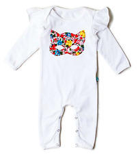 ALEX & ANT floral mask baby girl romper bodysuit white 3-6 months 00 cotton NEW