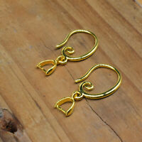 Wholesale Jewelry Earring Findings 18K Gold FIlled Pinch Bale Hook Earwires