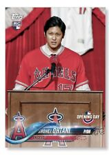 SHOHEI OHTANI 2018 TOPPS OPENING DAY BASEBALL BASE POSTER - #'D TO 99 10x14