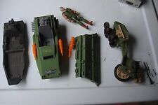 GI Joe 1980's Vintage Lot of parts,guns, vehicles+parts, helmets, back pak, L@@K