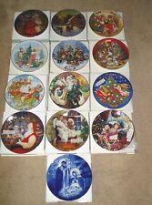 "Avon 8"" Christmas Plates-1987 thru 1997, 2000 & Holy Family-All New In Box"