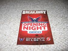 Washington Capitals Breakaway Opening Night 2010 New Jersey Devils
