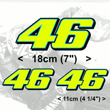 Valentino Rossi 46 FLUORESCENT YELLOW  vinyl (2013) stickers 1x18cm 2x11cm
