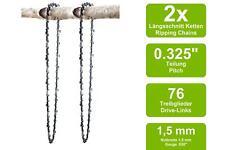 2 Längsschnitt Sägeketten passend für Secura MA5800   50cm 0.325 76TG 1,5mm