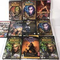 11x Big Box PC Games Job Lot  world of warcraft guildwars neverwinter nights