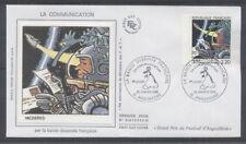 FRANCE FDC - 2511 1 BD MEZIERES - ANGOULEME 29 Janvier 1988 - LUXE sur soie
