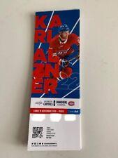 unused season hockey tickets Canadiens featuring Karl Alzner nov 19 2018/2019